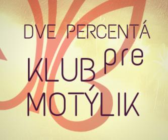 Dve percentá pre klub motýlik (1)
